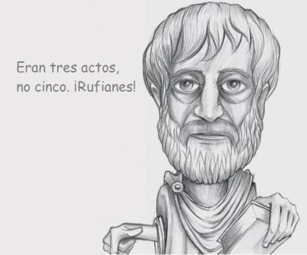 aristóteles tres actos